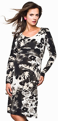 black, white, beige maternity dress long sleeve made in europe