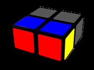 cubo de 2x2x1, primera opción