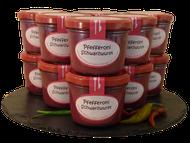 Pfefferoni Schwarzwurst im Glas im Onlineshop der Metzgerei Weinbuch aus Öpfingen