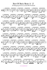 Schlagzeug Grooves PDF Noten Workbook