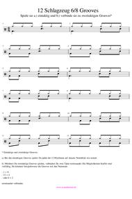 6/8 Schlagzeug Grooves gratis PDF