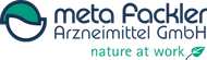 Logo, meta Fackler Arzneimittel GmbH nature at work