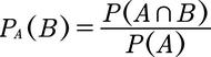 Formel für die Berechnung der bedingten Wahrscheinlichkeit