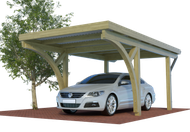Multi Satteldach Carport aus Holz mit Preis hier kalkulieren