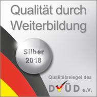 """Silberes DVÜD-Siegel """"Qualität durch Weiterbildung"""" 2018"""
