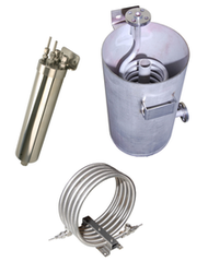 Mechatest Sample Coolers, spiral water coolers, tube-in-tube coolers, airfin coolers, flanged open coolers