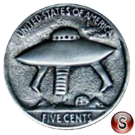 Alien coin 5 cent
