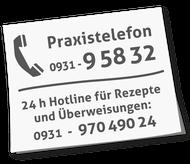 Praxistelefon 0931-95832
