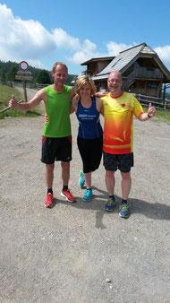 Oldenburger trainieren vereinsübergreifend mit run2gether in den Bergen.