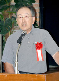 白山陶器の松尾社長が講演を行った=26日、市内ホテル