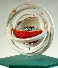 Darstellung des Modells zur Weltentstehung bei Thales von Milet
