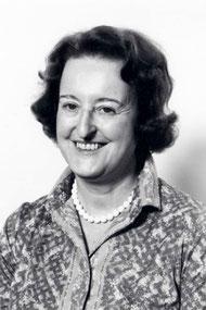Leonarda v. Planta, hier um 1978, war die erste Direktorin des Rätischen Museums  in Chur. Bild Frauenkulturarchiv GR.