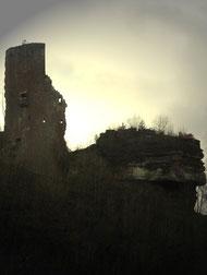 Burgruine in Elmstein