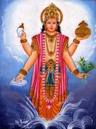 Dieu Dhavantari à quatre bras