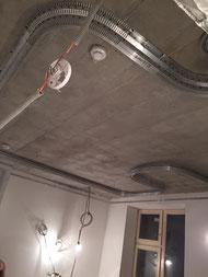 Монтаж натяжного двухуровнего потолка до поклейки обоев