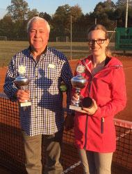Die neuen Besitzer des WSV-Wanderpokals für Schleifchenturniere: Norbert Rautenberg und Nicole Stenger.