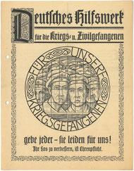 Flugblatt 1919: Deutsches Hilfswerk für die Kriegs- und Zivilgefangenen. StA Göttingen