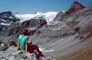 Wildstrubel mit Lämmerengletscher von der Südseite der Rote Totz Lücke