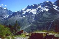 Ebnefluh undMittaghorn vom Weg Obersteinberg-Oberhornsee