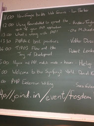PHP & friends dev room timetable