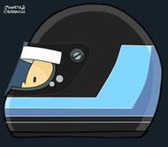Helmet of Harald Ertl by Muneta & Cerracín