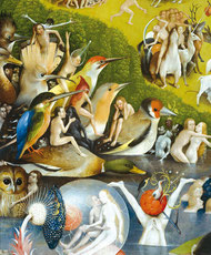 Image extraite du film :  détail du Jardin des Délices de Jérôme Bosch au Musée du Prado.