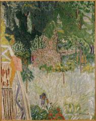 Pierre Bonnard, Le pommier fleuri ou Le balcon à Vernonnet, vers 1920,huile sur toile, collection musée des beaux-arts de Brest.