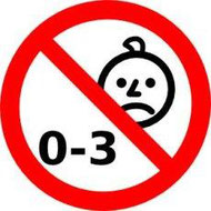 Símbolo obligatorio que indica que el juguete no es apto para menores de 3 años