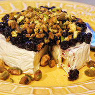 Wild Blueberry & Pistachio No-Bake Brie