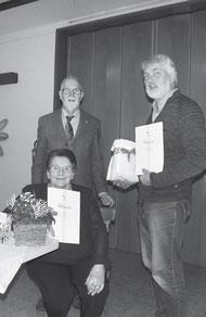 Gerlinde Hock (60 Jahre), Jürgen Kammer (Vorstand), Emmerich Braun (25 Jahre)