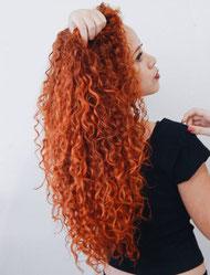 Locken Dauerwelle Haarmodelagentur