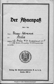 Ahnenpass Schramm, vergrössern >KLICK<