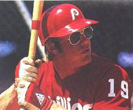 Mike Schmidt and Greg Luzinski hit back-to-back homers.