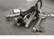 Schlüsselbund mit verschiedenen Schlüsseln