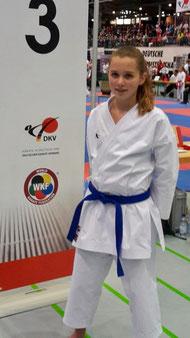 Louisa Jahn auf der DM in Bielefeld