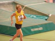 Elfriede Hodapp beim Zieleinlauf zum 50. Deutschen Meistertitel