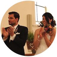Glückliches Brautpaar von Hochzeitsmovie.ch
