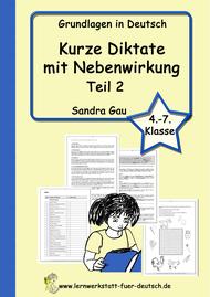 Diktate zu Rechtschreibregeln, diktate zu Lernwörter, Diktate zur Aufzählung, Diktate zur Kommasetzung, Wörterliste,