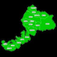ポスティング福井(北陸中部)配布部数表