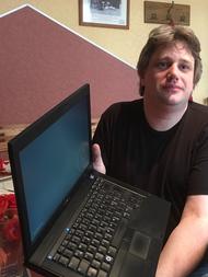 DG9BJK mit dem Linux-Laptop