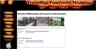 """Layout der """"alten"""" Feuerwehr-Homepage"""