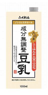 ふくれん 九州産ふくゆたか大豆 成分無調整豆乳1L紙パック×12(6×2)本入  ふくれんの豆乳は、クセが少なくて豆乳ヨーグルトに最適です。配送してくれてこの値段はありがたいです。