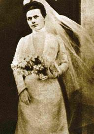 Elisabetta il giorno della vestizione religiosa