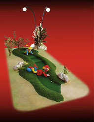 Maquette Mini Golf et Clowns