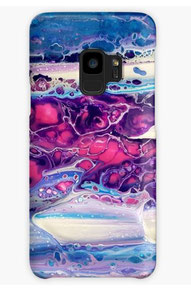 coque-galaxy-Iphone-rose-violet-original-paint-royan-decoration-unique
