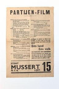Affiche : NSB Tweede Kamerverkiezingen 26 mei 1937 1.2