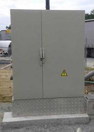 Socle en béton pour armoire électrique - Pajot entreprise