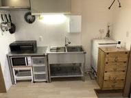 Alice2キッチン、洗濯機、下駄箱
