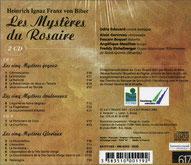 Les mysteres du rosaires Heinrich Ignaz Franz von Biber orgue silbermann saint-quirin musique baroque 2001