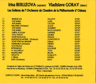 Les Solistes de l'Orchestre de Chambre de la Philarmonie d'Odessa saint-quirin lettenbach musique baroque